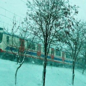 Train in Istanbul, Turkey